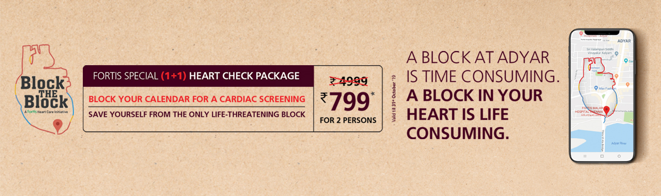 Fortis Malar - Special Heart Check Packages